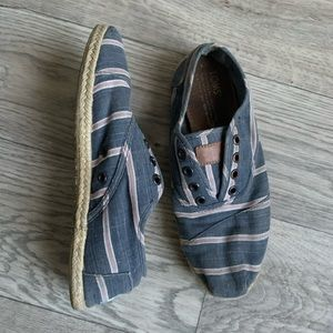 TOMS slip on striped shoes